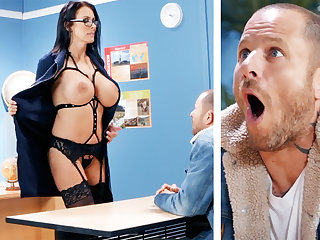 Downcast teacher hardcore fucks schoolboy at school