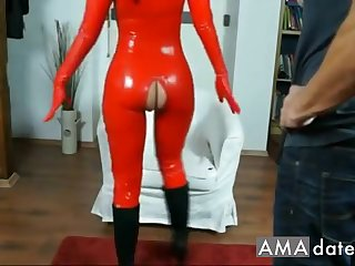 Adorable  latex nightfall darkness girl has her pussy licked with the addition of fingered