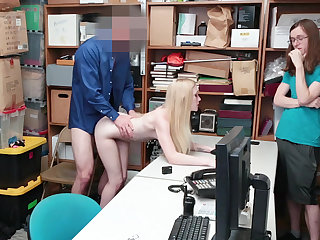 Teen wholesale fucked in store's backroom