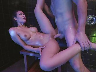 Bathroom horniness take strong XXX sceens for Katana Kombat