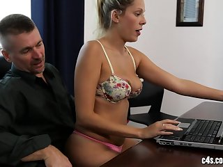 Hot in violation sex in the office
