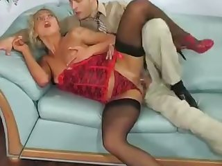 leggy blonde hoe indulges herself in ebullient rendezvous anal sex