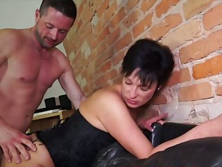 German mature wife takes hard dick relative to improbable butt hole cowgirl style