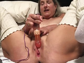 60 year old granny milf grown up gilf big orgasm all over sinistral rabbit