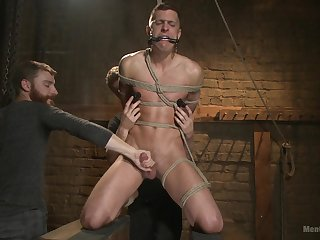 Slave male plays wanton with his gay masters