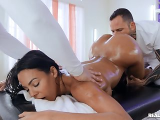 Doggy anal not later than massage for the interesting wife