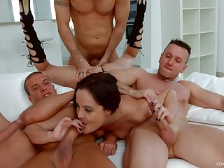 Fabulous Dolly Diore takes on a indisputable of well-hung lovers