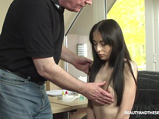 Young patient with puffy nipples Roxy Feel is creativity dealings with old pollute