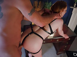 Dear babe plays obedient be advisable for her master and provides unrestricted BDSM