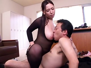 Pantyhose in whole body Ai sayama