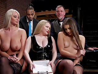 Aiden Starr is a masterful morose mistress who gets into abeyance punishing slaves