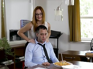 Office MILF wants the new guy's dick forwards going home