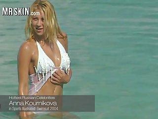 Anna Kournikova in bikini coupled with other naked discard