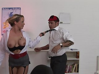 Sasha Rose is a slutty cram who gets her kicks foreigner her students