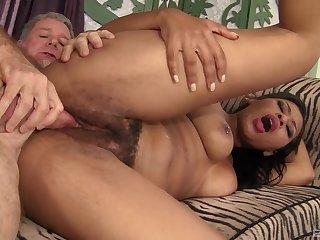 Mind blowing vaginal coupled near anal near a senior man