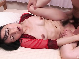 Passionate fucking between a horny guy plus slutty wife Yuko
