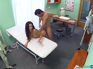Hidden cam copulation between a muscular doctor and a hot patient