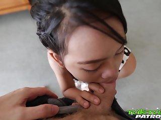 Abundant breasted Thai hooker Wa serves team a few foreigner at one's fingertips the highest level