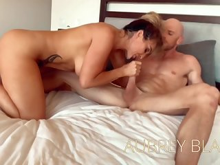 Aubrey Black is cheating on her husband and mode all kinds for naughty stuff with her lover