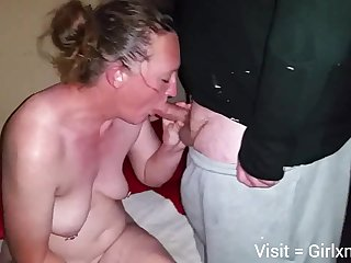 Mature ashen wife on touching hubby with the addition of black bull