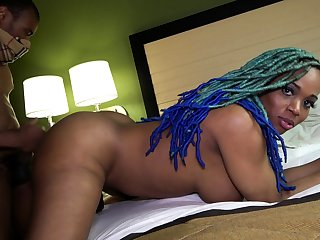 Black BBW brass hats is doggystyle fucked
