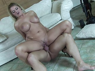 Cougar nurturer rides the soul out of this penis