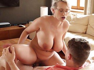 Ass, Big ass, Big tits, Blonde, European, Glasses, Milf
