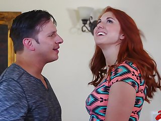 Cum in brashness after nice sex adjacent to redhead beau Rose Red Tyrell